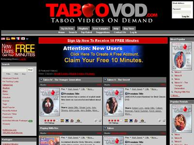 They are intended to show you how easy our Taboo porn VOD site is to use and ...