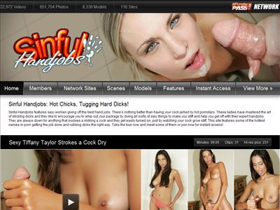 Sinful Handjobs features sexy young women giving off the best hand jobs.